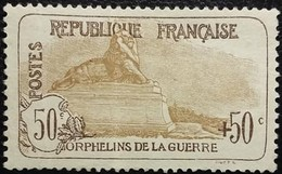 France Y&T N°153 Le Lion De Belfort 50Cc.+50c Brun Clair Neuf Sans Gomme - France