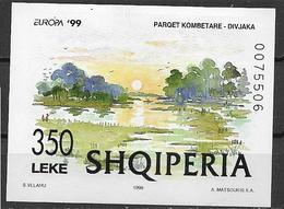 ALBANIA 1999 EUROPA FOGLIETTO RISERVE E PARCHI NAZIONALI YVERT. BF 92 MNH XF - Alderney