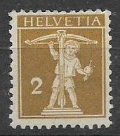 SVIZZERA  1910  WALTER TELL NUOVO TIPO MODIFICATO UNIF.134 MLH VF - Nuovi