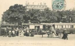 """CPA FRANCE 75008 """"Paris, Place De L'Etoile, Le Tramway De Saint Germain"""" - District 08"""