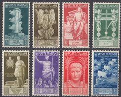 ITALIA - 1937 - Lotto Di 8 Valori Nuovi MH: Yvert 396/403, Come Da Immagine. - 1900-44 Victor Emmanuel III