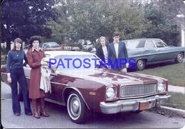 104874 AUTOMOBILE CAR AUTO COUPE AND FAMILY PHOTO NO POSTAL POSTCARD - Cartes Postales