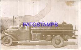 104876 AUTOMOBILE CAR CAMION TRUCK GAS OIL PETROLERO SPOTTED POSTAL POSTCARD - Cartes Postales