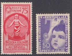 ITALIA - 1937 - Lotto Di Due Valori Nuovi MH: Yvert 390/391, Come Da Immagine. - 1900-44 Victor Emmanuel III
