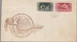 .mineraux TRAINS, TUNEL FDC COVER HUNGARY 1935 EVES TERVUNK EGYIK LEGSZEBB ALKOTASA ,BUDAPEST FOLDALATTI GYORSVASUT - Minéraux