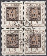 ITALIA - 1959 - Quartina Usata Di Yvert 800, Come Da Immagine. - 1946-60: Usados