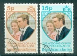 BAT 1973 Princess Anne Wedding FU Lot78042 - British Antarctic Territory  (BAT)