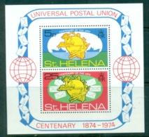 St Helena 1974 UPU Centenary MS MUH - Saint Helena Island