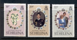 St Helena 1981 Royal Wedding Charles & Diana MUH - Saint Helena Island