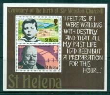 St Helena 1974 Winston Churchill MS MUH - Sainte-Hélène