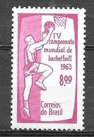 1963 World Championship Basktball, Mint Never Hinged - Brazil