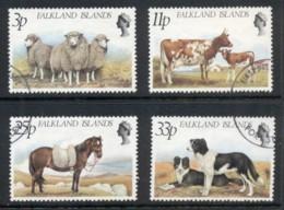 Falkland Is 1981 Sheep, Cattle, Horse, Dog FU - Falkland Islands
