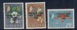Tristan Da Cunha 1963 Resettlement Opts, Flowers 4.5d, 1/-. 2/6d MLH - Tristan Da Cunha