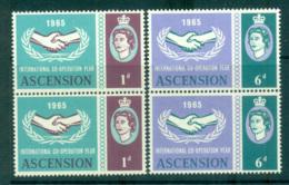 Ascension Is 1965 ICY Pair MUH Lot66138 - Ascension (Ile De L')