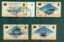 Falkland Is 1986 AMERIPEX Ships FU Lot77826 - Falkland