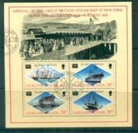 Falkland Is 1986 AMERIPEX Ships MS FU Lot77827 - Falkland