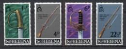 St Helena 1971 Military Emblems, Sword, Guns MUH - Sainte-Hélène