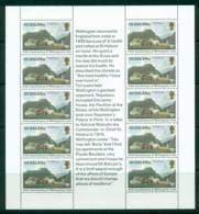 St Helena 1980 30p Wellingtons Visit Sheetlet (light Crease TLC) MUH Lot26433 - Saint Helena Island