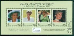 St Helena 1998 Princess Diana In Memoriam, Queen Of Hearts MS MUH - Saint Helena Island