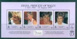 South Georgia 1998 Princess Diana In Memoriam MS MUH Lot76460 - South Georgia