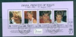 South Georgia 1998 Princess Diana In Memoriam MS FU Lot78025 - South Georgia