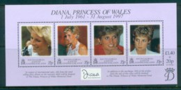 South Georgia 1998 Princess Diana In Memoriam MS MUH Lot81829 - South Georgia