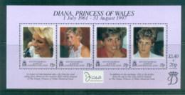 South Georgia 1997 Princess Diana In Memoriam MS MUH - South Georgia