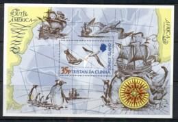 Tristan Da Cunha 1974 Map, Bird, Ship MS MUH - Tristan Da Cunha