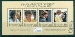 Ascension Is 1998 Princess Diana In Memoriam MS MUH Lot81807 - Ascension (Ile De L')