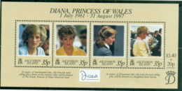 Ascension Is 1998 Princess Diana In Memoriam, Lady Diana, Princess Of Wales MS MUH - Ascension