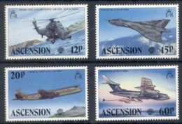Ascension Is 1983 Manned Flight Bicentenary, Airplanes MUH - Ascension