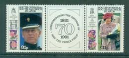 South Georgia 1991 QEII & Prince Phillip Royal Birthday's Pr + Label MUH Lot76444 - South Georgia