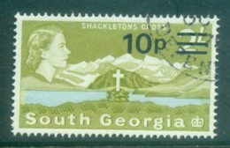 South Georgia 1971-72 QEII Definitives Surcharges 10p On 2/- FU Lot77992 - South Georgia