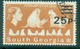 South Georgia 1971-72 QEII Definitives Surcharges 25p On 5/- FU Lot77994 - South Georgia