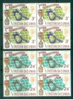 Tristan Da Cunha 1966 World Cup Soccer, Wembley Imprint Blk4 MUH - Tristan Da Cunha
