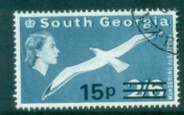 South Georgia 1971-72 QEII Definitives Surcharges 15p On 2/6d FU Lot77993 - South Georgia