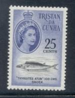 Tristan Da Cunha 1961 QEII Pictorials, Fish, New Currency, 25c MLH - Tristan Da Cunha
