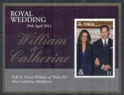 St Helena 2011 Royal Wedding William & Kate MS MUH - Saint Helena Island