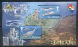 St Helena 2001 New Year Of The Snake, Dolphins MS MUH - Saint Helena Island