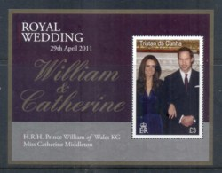 Tristan Da Cunha 2011 Royal Wedding William & Kate MS MUH - Tristan Da Cunha