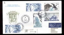 French Antarctic Territory 1988 Wind Turbine, Bird, Ship, Plane Cover - French Southern And Antarctic Territories (TAAF)
