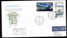 French Antarctic Territory 1988 Polar Lights, Base Station Cover - French Southern And Antarctic Territories (TAAF)