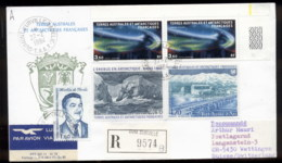 French Antarctic Territory 1984 Polar Lights, Base Station, Sailing Ship Erebus Cover - French Southern And Antarctic Territories (TAAF)