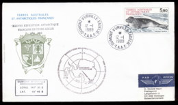 French Antarctic Territory 1988 Seal, Meterological Station, D'urville Cover - French Southern And Antarctic Territories (TAAF)