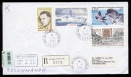 French Antarctic Territory 2001 Ship, Frigate Furtive, Explorer, Passage Of Venus, Petrel, Bird Cover - Other