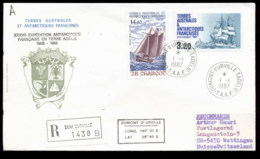 French Antarctic Territory 1987 37th Antarctic Expedition,Sailing Ships Cover - French Southern And Antarctic Territories (TAAF)