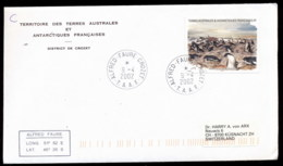 French Antarctic Territory 2002 Adelie Penguins Cover - French Southern And Antarctic Territories (TAAF)
