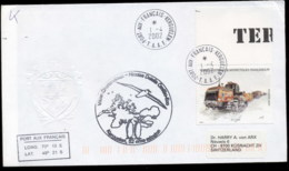 French Antarctic Territory 2002 Machinery, Snow Tractor, Expedition Cover - French Southern And Antarctic Territories (TAAF)