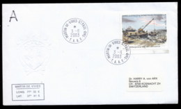 French Antarctic Territory 2003 Offloading Stores Cover - French Southern And Antarctic Territories (TAAF)