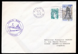 French Antarctic Territory 1979 Thala Dan Cover - French Southern And Antarctic Territories (TAAF)